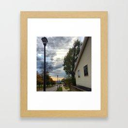 Half Symmetry Framed Art Print