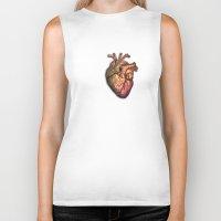 anatomical heart Biker Tanks featuring Anatomical heART by Li9z