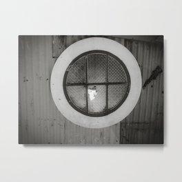 Circle Window Metal Print