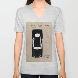 patent Tucker Automobile Unisex V-Neck