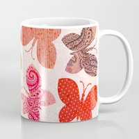 karu kara Mugs featuring BUTTERFLY SEASON by Daisy Beatrice