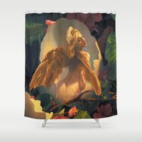 egg Shower Curtains featuring Egg by Scott Grimando