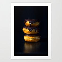 Chocolate Glazed Donuts Art Print