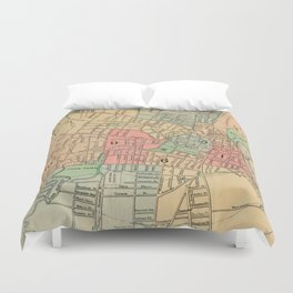 Vintage Map of Hartford Connecticut (1903) Duvet Cover