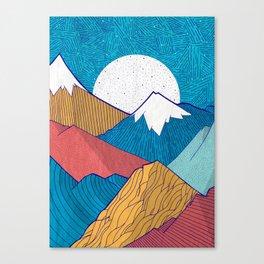 The Crosshatch Sky Canvas Print