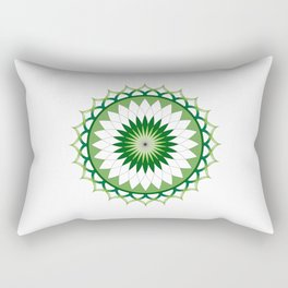 Vector Lotus Flower Rectangular Pillow