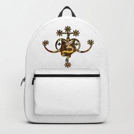 Earthy Marie Laveau Veve Sigil Backpack