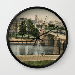 York general view and castle 1900 Wall Clock