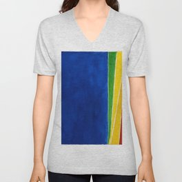 African American Masterpiece 'Atmospheric Effects 1'' by Alma Thomas Unisex V-Neck