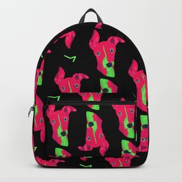 italian greyhound - blk pattern Backpack