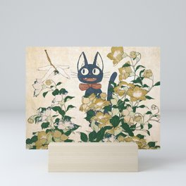 Jiji from Kiki's delivery service vintage japanese mashup Mini Art Print