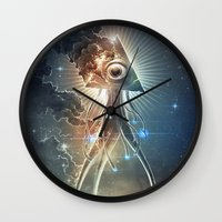 war Wall Clocks featuring War Of The Worlds II. by Dr. Lukas Brezak