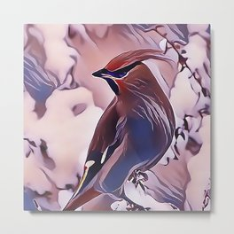 The Cedar Waxwing Metal Print