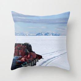 snowmobile sled Throw Pillow