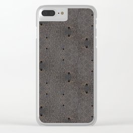 Sand Wormholes. Clear iPhone Case