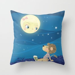 Lav & Luna Throw Pillow