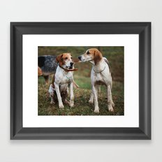 Foxhounds Framed Art Print