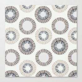 Circles 1 - Warm Grey Canvas Print