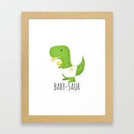 Baby-saur Framed Art Print