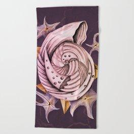 Dystopian Conch - Lavender Beach Towel