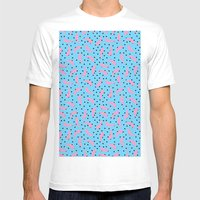 Pink Banana Peel on Baby Blue /// www.pencilmeinstationery.com Mens Fitted Tee White MEDIUM