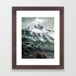 Panoramic View Of Mountain Everest Framed Art Print