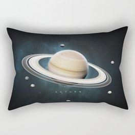 A Portrait of the Solar System: Saturn Rectangular Pillow