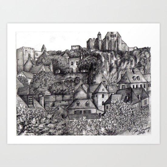 Black and White 4 Art Print