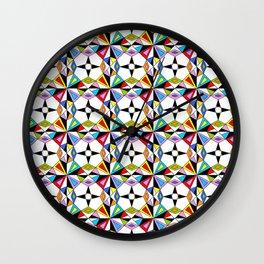 symetric patterns 74-mandala,geometric,rosace,harmony,star,symmetry Wall Clock