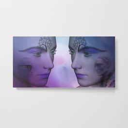 dreams of fantasy twins Metal Print