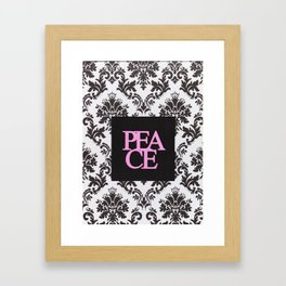 peace in black and white Framed Art Print