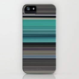 Teal and grey iPhone Case