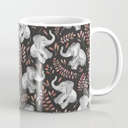 Laughing Baby Elephants - Coral Coffee Mug