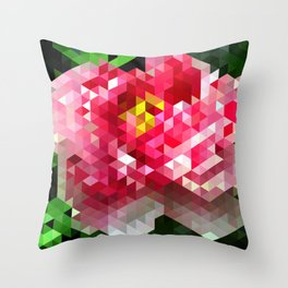 Peony I Throw Pillow