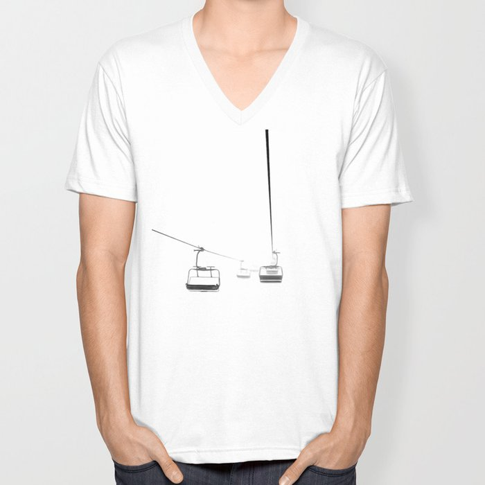 Lifts from and to nowhere Unisex V-Neck