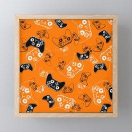 Video Game Orange Framed Mini Art Print