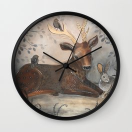 Forest Animals Wall Clock