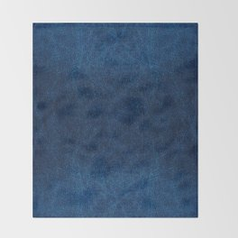 Dark blue glossy leather texture abstract Throw Blanket