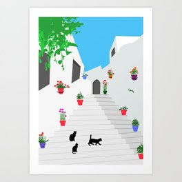 Andalusian street Art Print