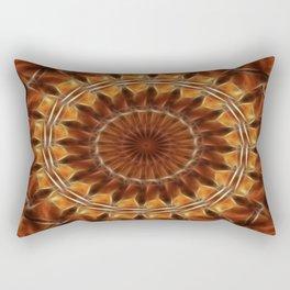 Brown Tan Gold Kaleidoscope Art 8 Rectangular Pillow
