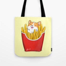 French Corgi Fries Tote Bag