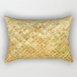 Ancient Egyptian Golden Gilded Checkerboard Pattern Rectangular Pillow