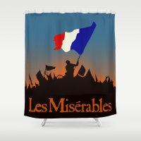 les miserables Shower Curtains featuring Les Miserables by TheWonderlander