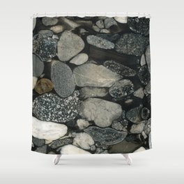 Marble Pebbles Shower Curtain