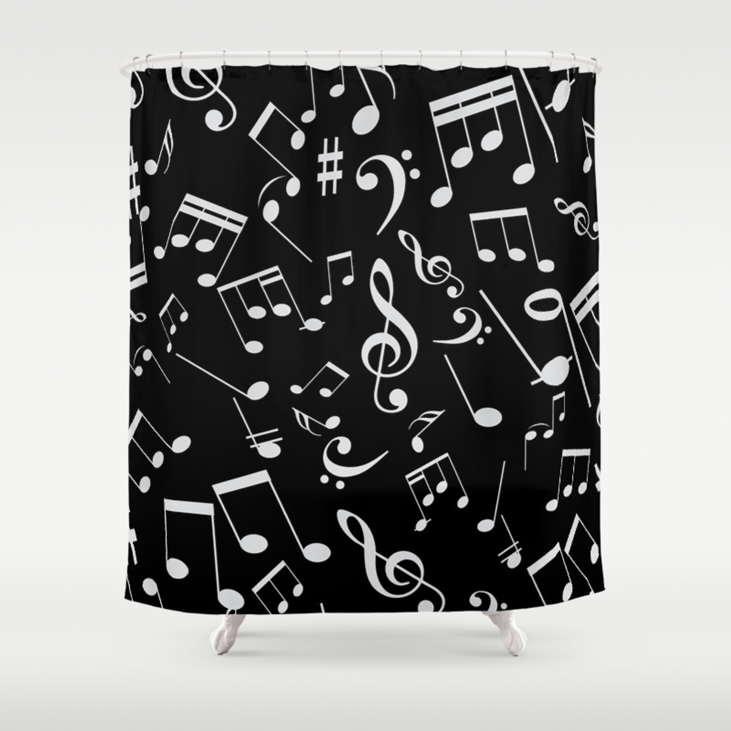Musical Notes 20 Shower Curtain