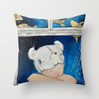 dreamer Throw Pillows featuring Dreamer by Zina Nedelcheva