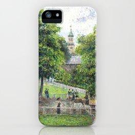 "Camille Pissarro ""Saint Anne's Church at Kew"" (1892) iPhone Case"