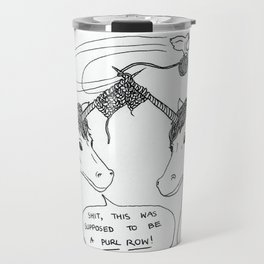 KNITTING UNICORNS Travel Mug