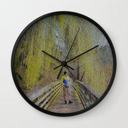 Willow Walkway Wall Clock