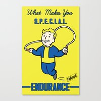 fallout 3 Canvas Prints featuring Endurance S.P.E.C.I.A.L. Fallout 4 by sgrunfo